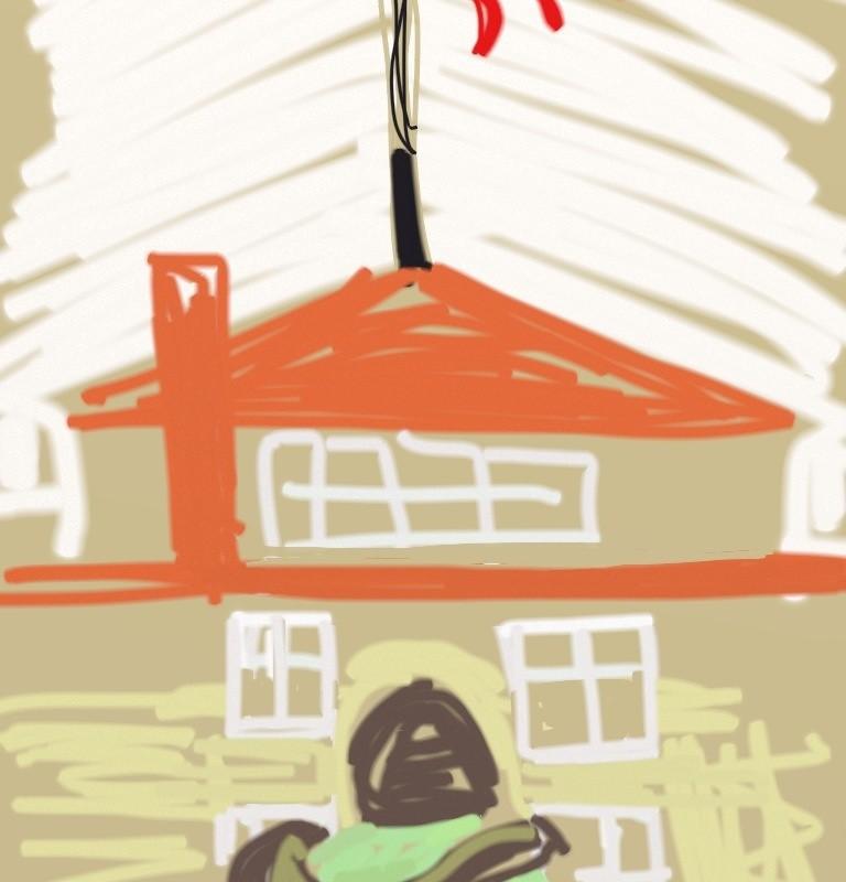 Clara Barton's Flag.  iPad.