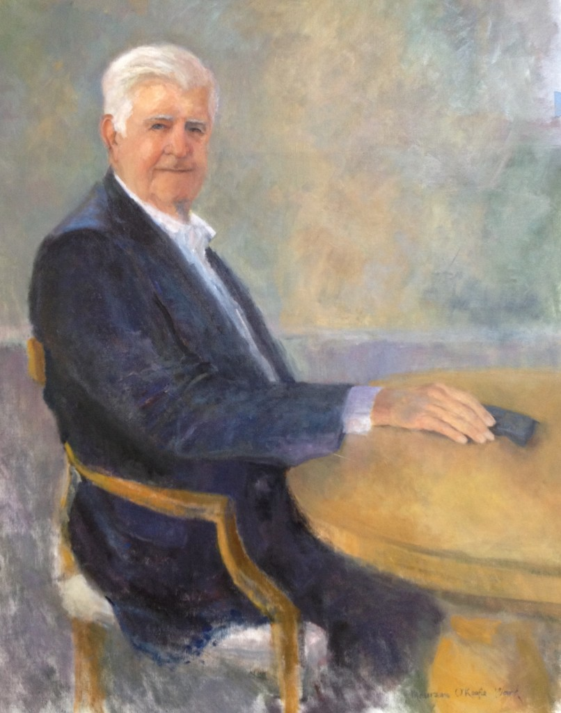 portrait of Maureen's Dad on the occasion of his 90th birthday