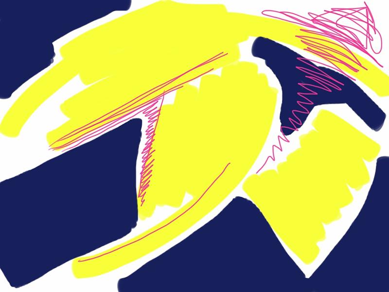 Yellow Bird.  iPad.