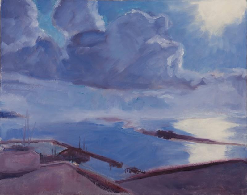 Blue Sky for Jody.  Oil.