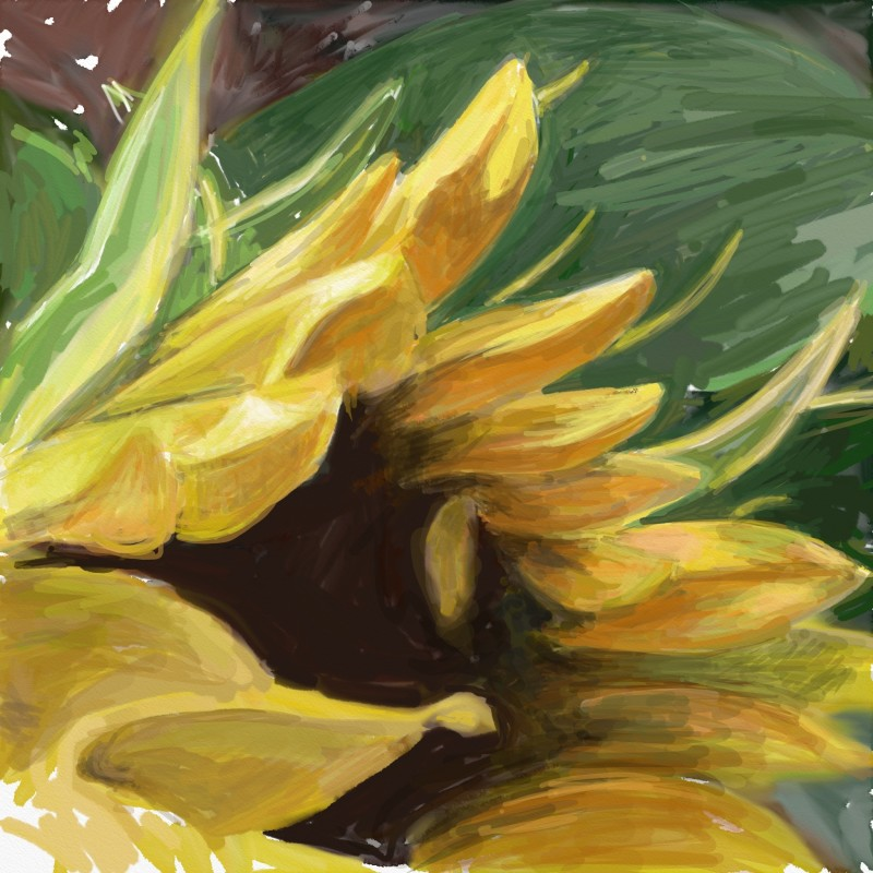 Sassy Sunflower.  iPad.