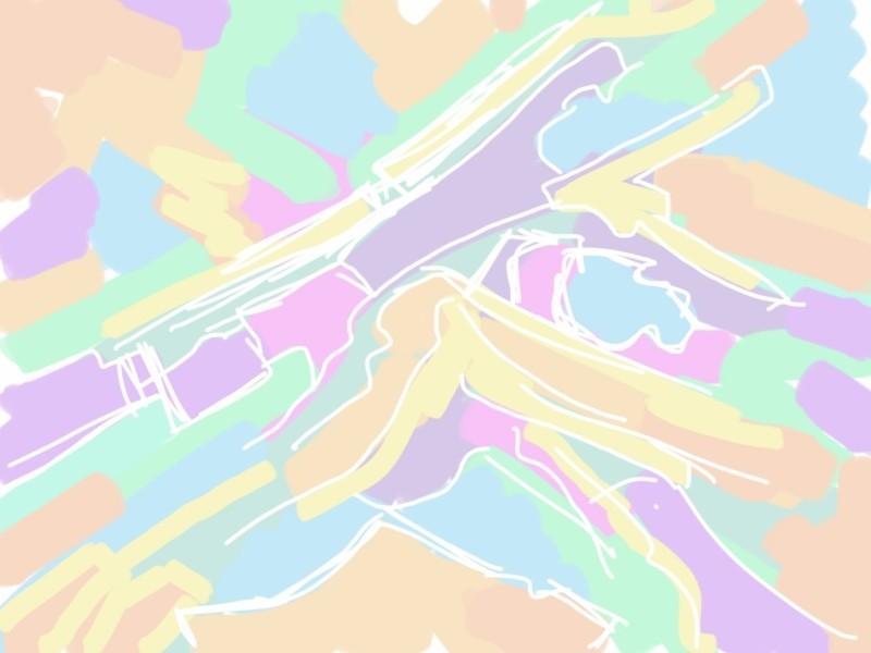 Pastel Value, original digital painting, ArtRage on the iPad, 1:1 aspect ratio.