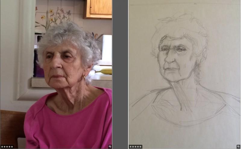 Rita in Initial Pose + Sketch